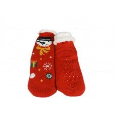 Γυναικεία Καλτσοπαντοφλα με γούνα  σχέδιο Christmas 13