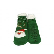 Γυναικεία Καλτσοπαντοφλα με γούνα  σχέδιο Christmas 14