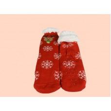 Γυναικεία Καλτσοπαντοφλα με γούνα  σχέδιο Christmas 17