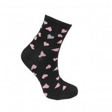 Γυναικείες κάλτσες Ημίκοντες με σχέδιο καρδούλες