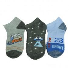 Παιδικές κάλτσες αστραγάλου για αγόρι σχέδιο 3
