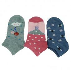 Παιδικές κάλτσες αστραγάλου για κορίτσι σχέδιο 1